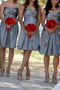 Silver bridesmaid dresses with sleeves | Wedding ...
