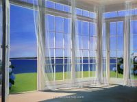 Home Decor with Window Wall Mural   living room ...