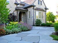 Decorating: Bluestone Walkway With Shrubs And Perennials ...
