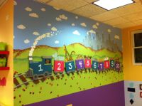 """This is the """"Numbers"""" mural at an early education ..."""
