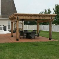 Patio Pergola featuring the Post Base Kit, Post to Beam