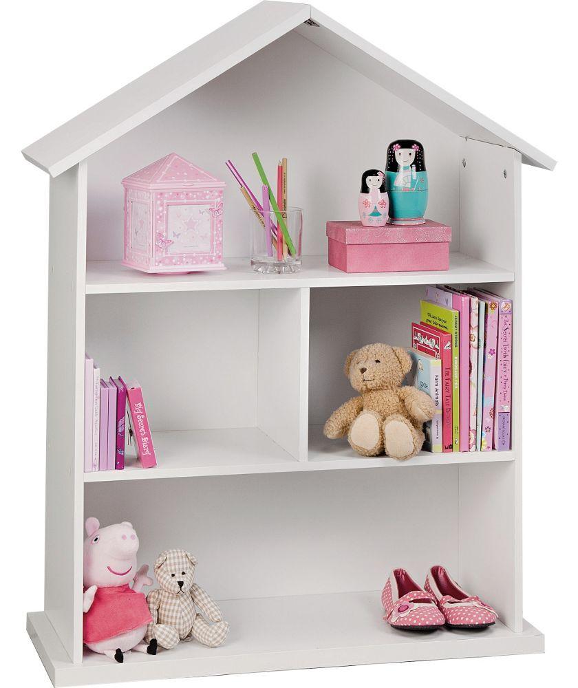 Buy mia dolls house bookcase white at argos co uk your online