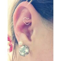 Rook heart piercing At Clair's for $6 | Ear Piercings ...