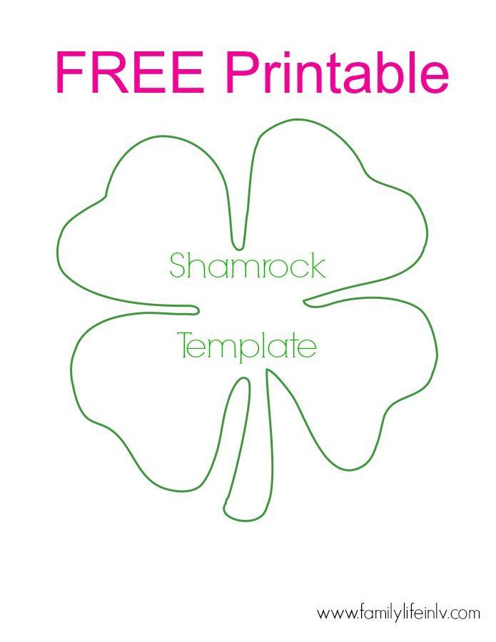 Free Shamrock Printable - for super fun shamrock crafts for kids - shamrock template