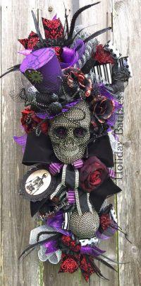 Bling Skull Swag, Halloween Swag, Hollaween Decor ...