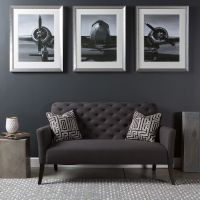 Triptych wall art piece with a modern industrial flare; a ...
