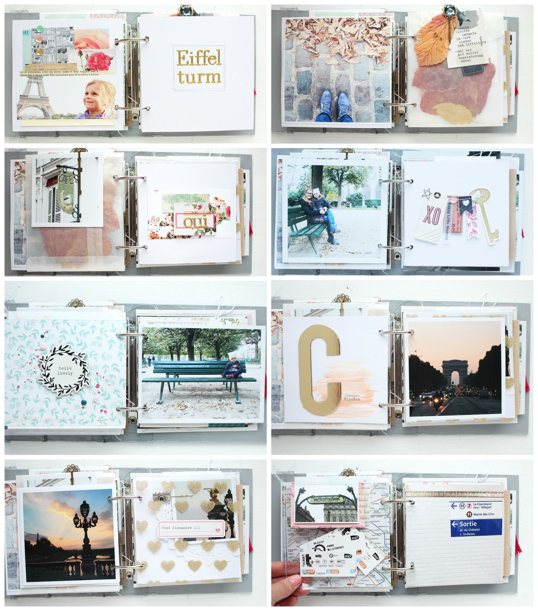 Album Gestalten Mini Album Quotparis Quot Details 2 Steffi Ried Scrapbooking