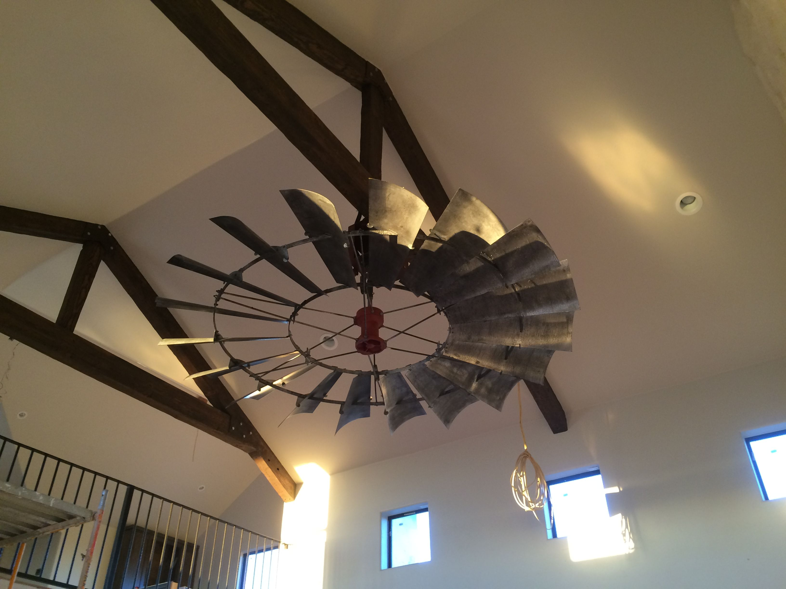 Ceiling Fan For Great Room 8 39 Reproduction Vintage Windmill Ceiling Fan Wcftx