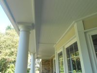 Hardie Beaded Soffit panel custom porch ceiling with ...