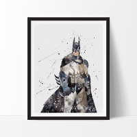 Batman Begins Watercolor Art Print | Watercolor art ...
