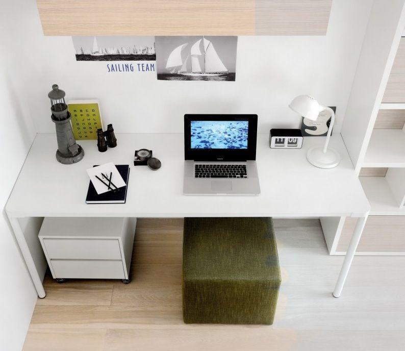 Green White Study  Various Kidsu0027 Desks For Your Kidsu0027 Room Kids - bedroom desk ideas
