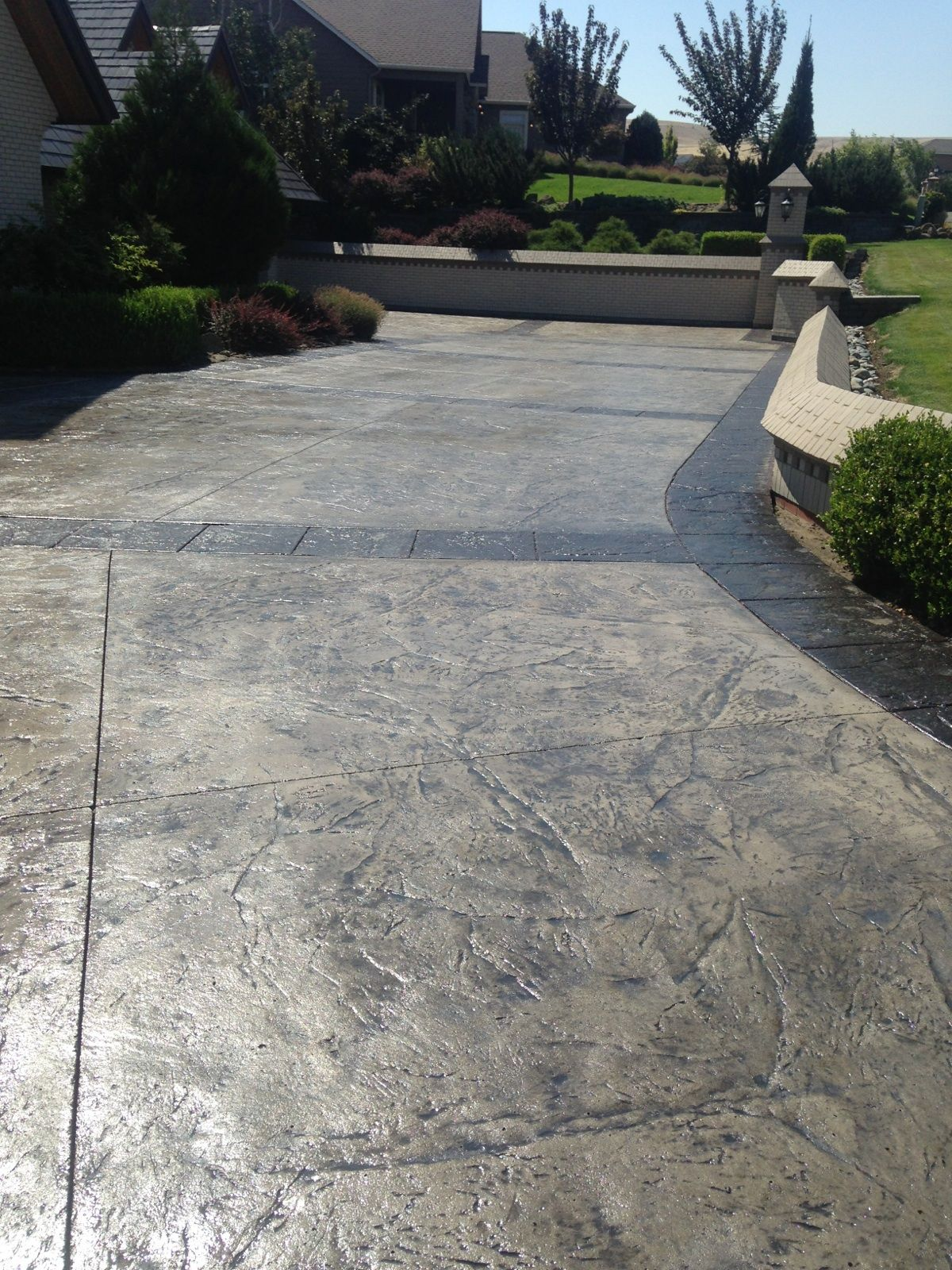 Beton Ciré Exterieur Texture Stamped Concrete Is The Process Of Adding Texture And
