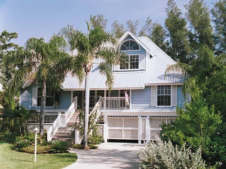 Eplans Cottage House Plan - Key West Island Style - 2257 Square - key west style home decor