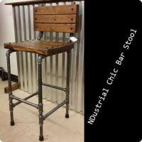 Black Steel Pipe Ndustrial Chic Bar Stool - $125. # ...