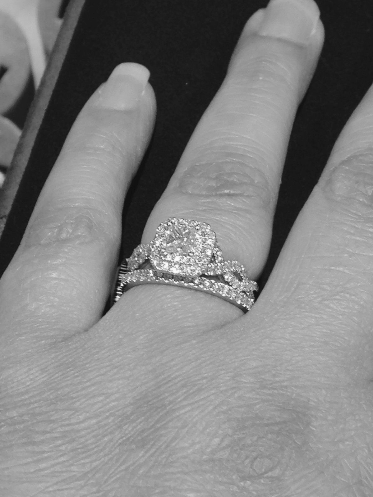 zales wedding rings sets Vera Wang Love Collection Princess Cut Double Twist Frame Engagement Ring The pictures on the Zales