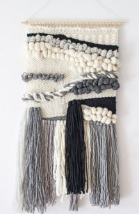 Woven wall hanging large | Woven wall tapestry weaving ...