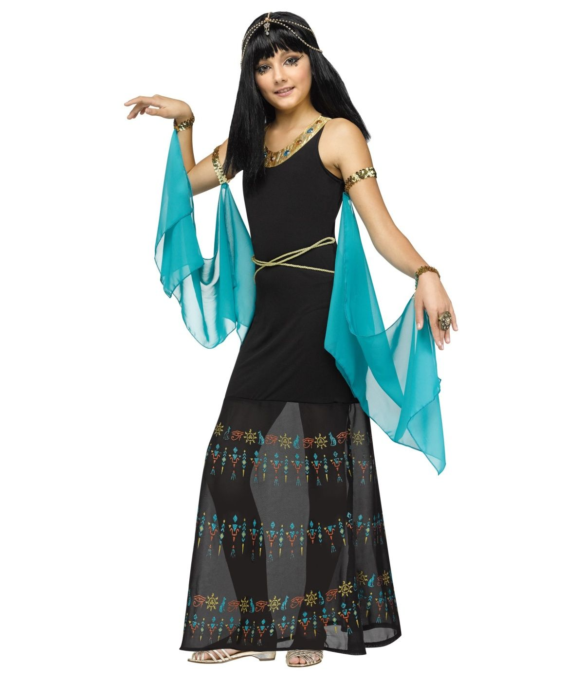 Egyptian hieroglyph queen girls costume egyptian costumes
