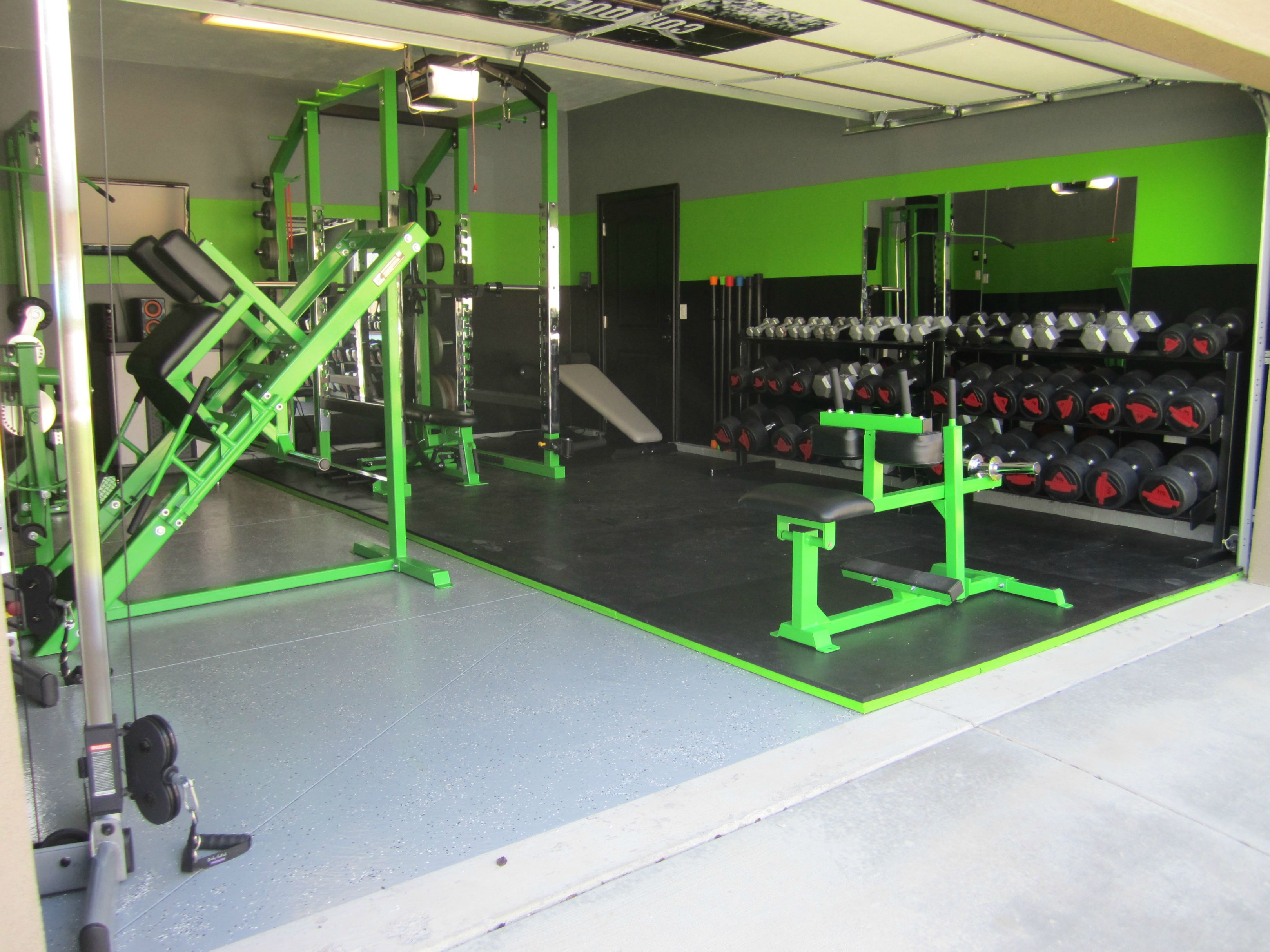 Diy Garage Gym Equipment Awesome Home Garage Gym Just For The Health Of It