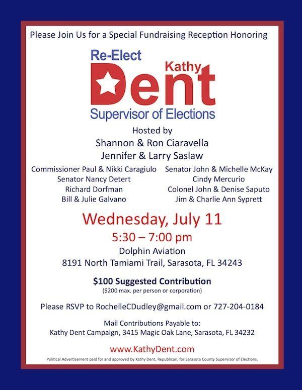 political fundraising invitation