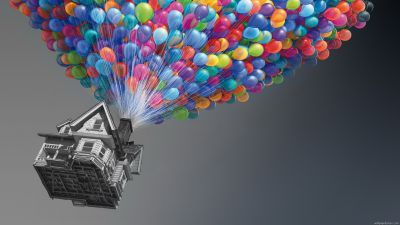 Colorful Up Home With Balloon Wallpaper #3554 Wallpaper mobile ... | Disney | Pinterest ...