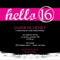 sweet 16 invitation cards designs - Google Search | Sweet ...