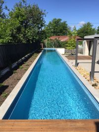 Above ground lap pool with remco remote controlled pool ...