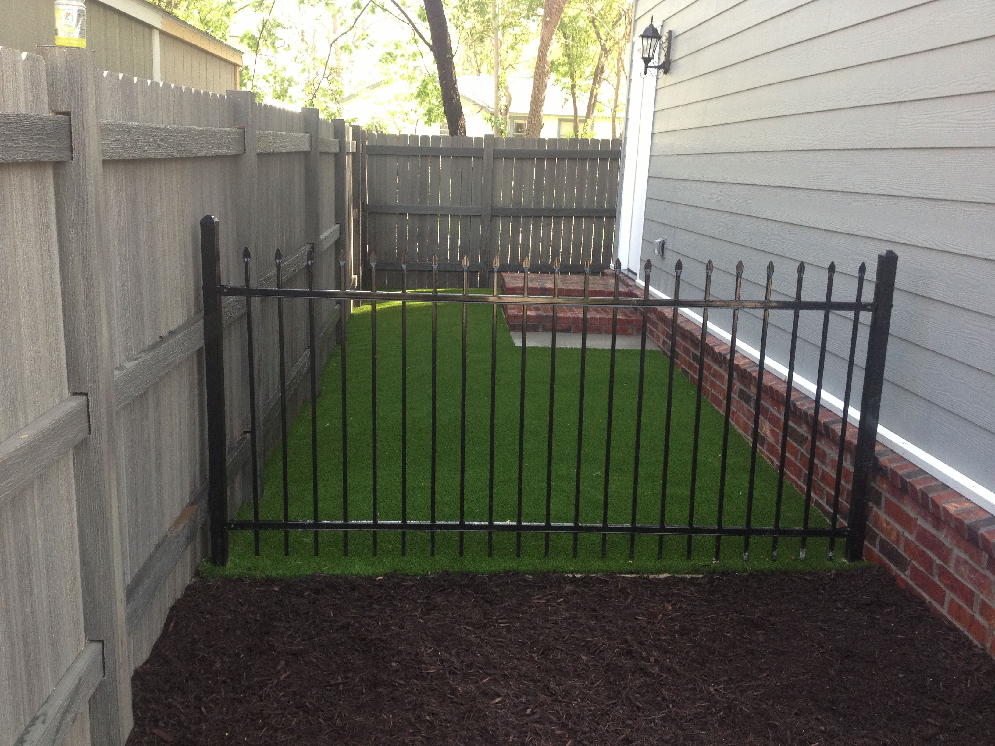 Dog Run Ideas Side Yard Solution Pet Friendly X Grass Artificial Turf