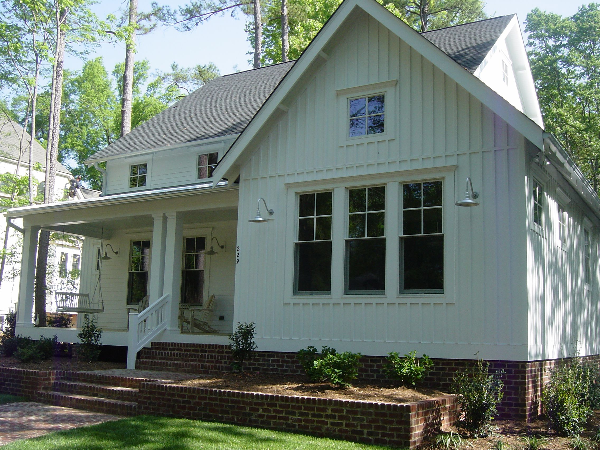 Horizontal Board And Batten Siding Just Love This New Farmhouse Style Home With Batten Board
