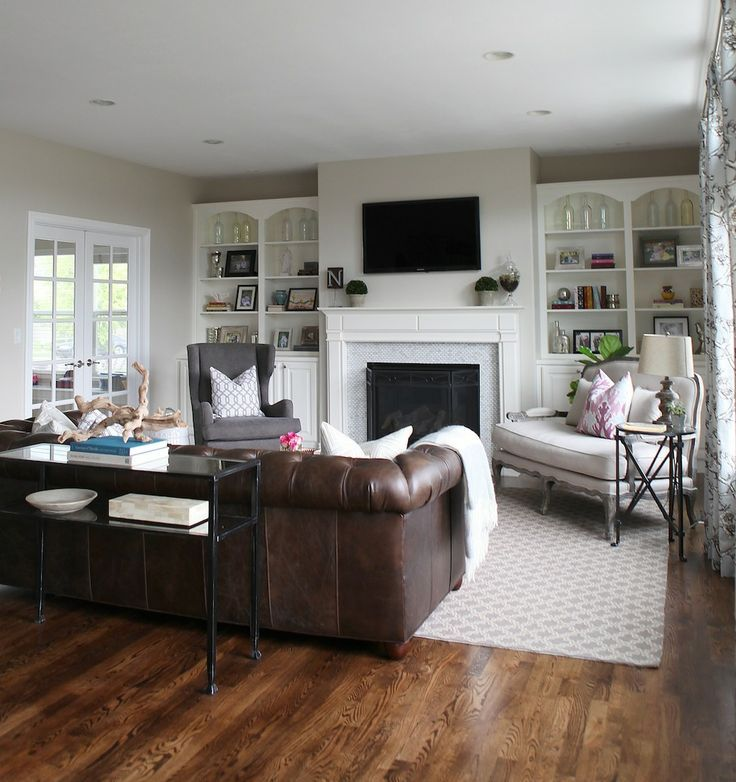 Furniture Layout Ideas  Balance and Symmetry Couch sofa, Brown - brown leather couch living room