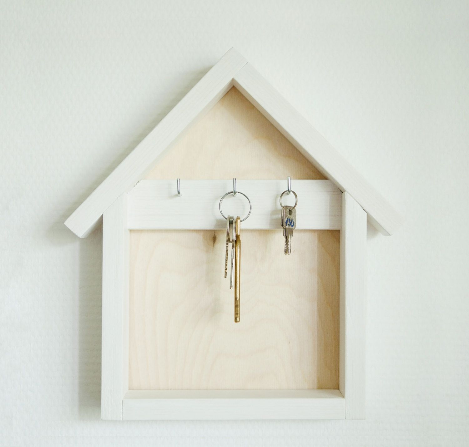 Key Shaped Key Rack Wooden Key Holder Wood Key Organizer House Shaped Key