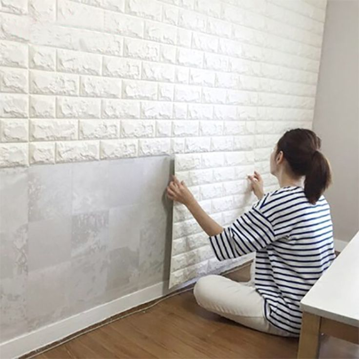 Peel \ Stick Wallpaper Brick Design DIY Home Decor Pinterest - wallpaper ideas for living room
