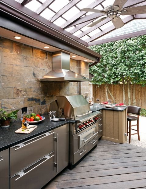 Covered Outdoor Kitchen Best 25+ Covered Outdoor Kitchens Ideas On Pinterest