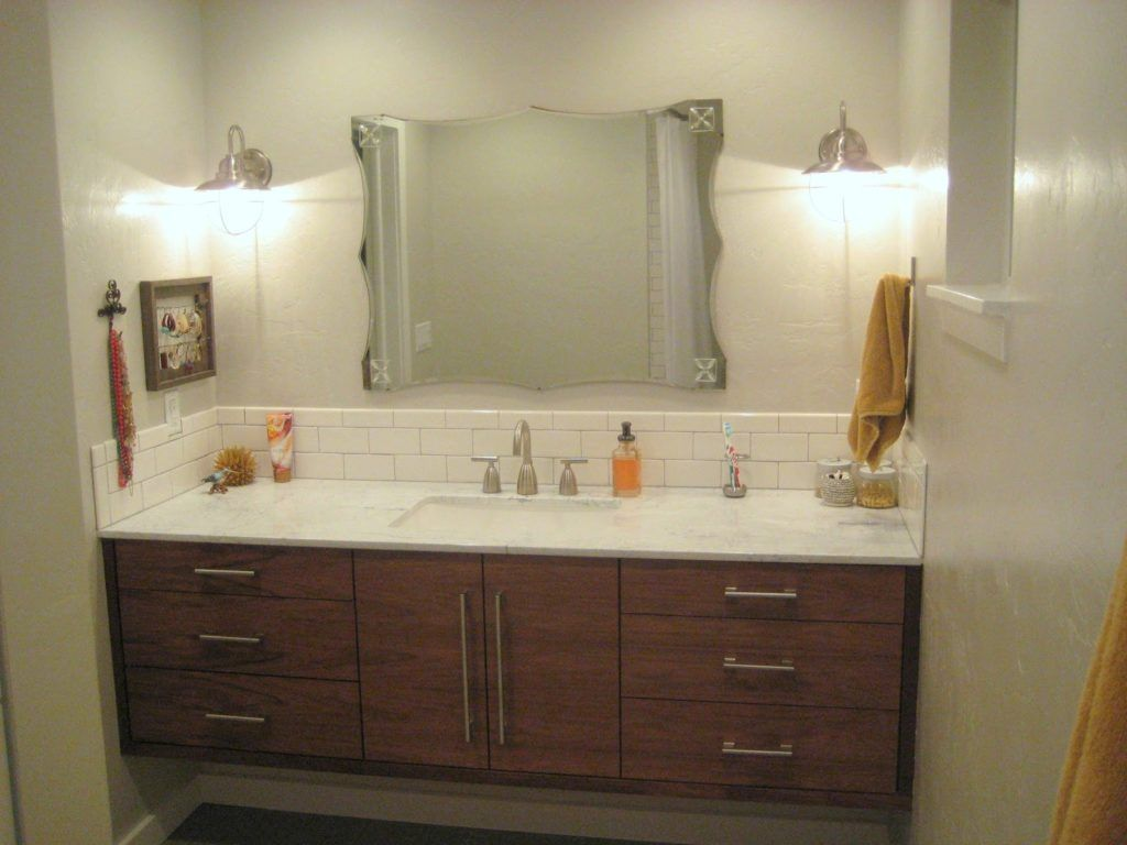 Using ikea kitchen cabinets for bathroom vanity