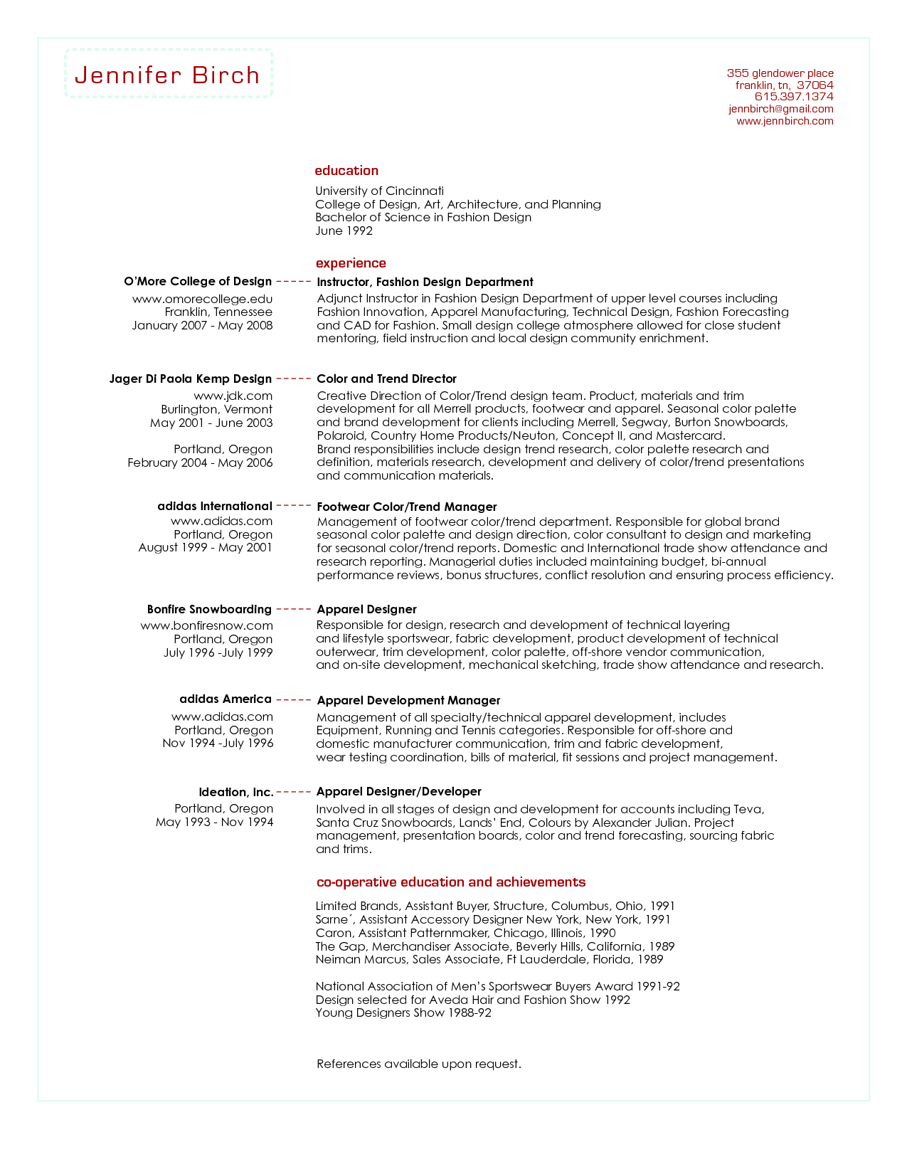 sample cv buyer professional resume cover letter sample