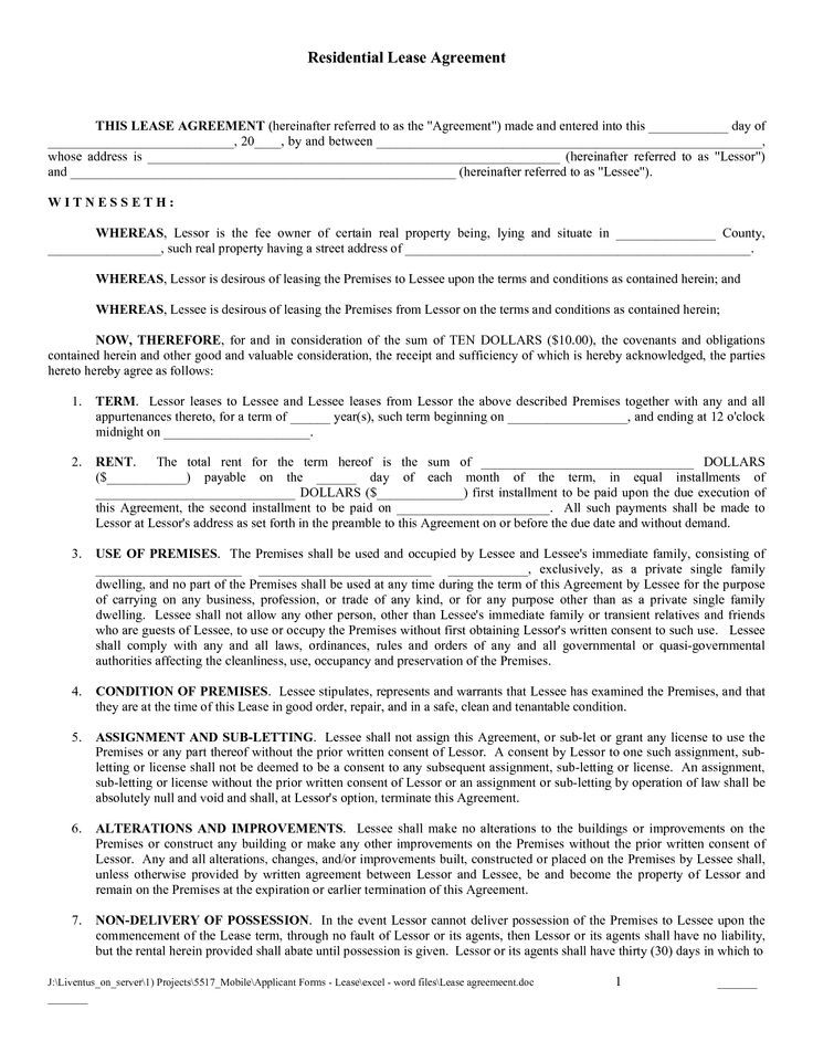 Printable Sample Rental Lease Agreement Templates Free Form Real - rent contract templates