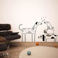 Love dogs wall decas wall stickers - big and small dogs ...