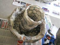 Paper Mache Mushroom Lamp | Decorative lights, Paper mache ...