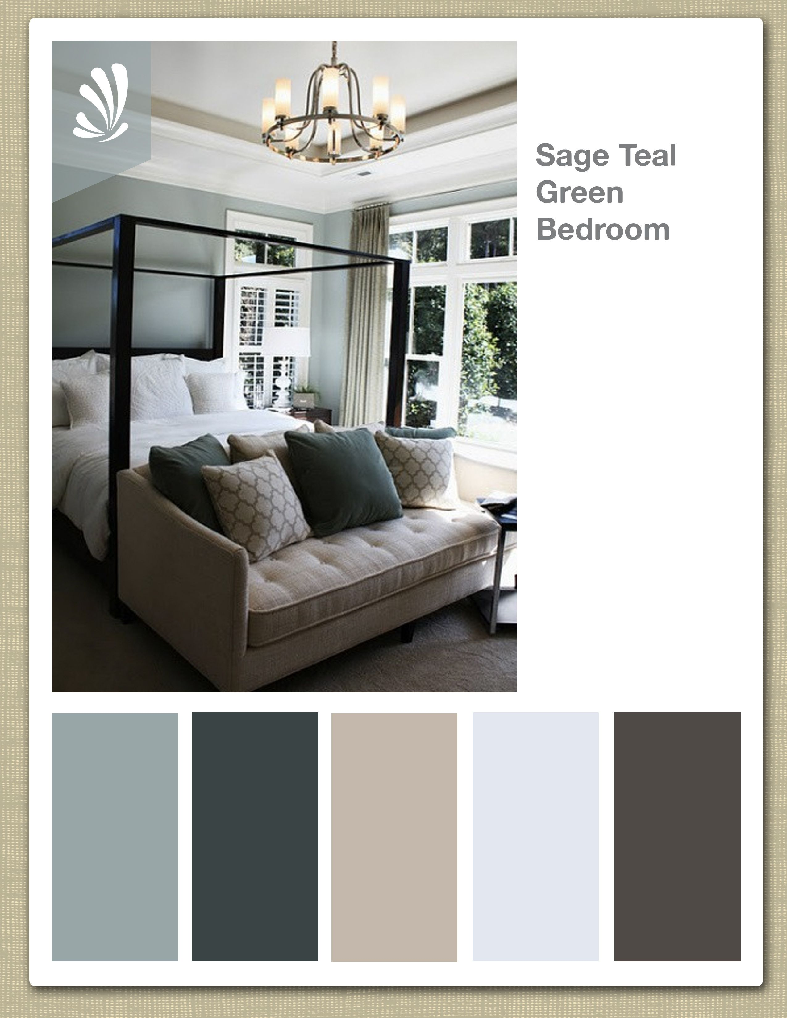 Color Palettes Bedrooms Sage Cream Oil Gray And Teal Green Color Palette
