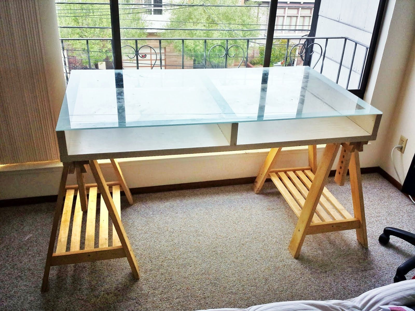 Ikea Glass Top fice Desk