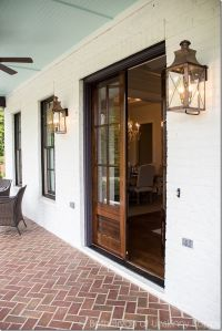 Front porch goals- LOVE the double wooden front doors and ...