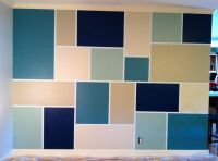 Feature Wall --> Step 1: Tape out design - Step 2: Paint ...