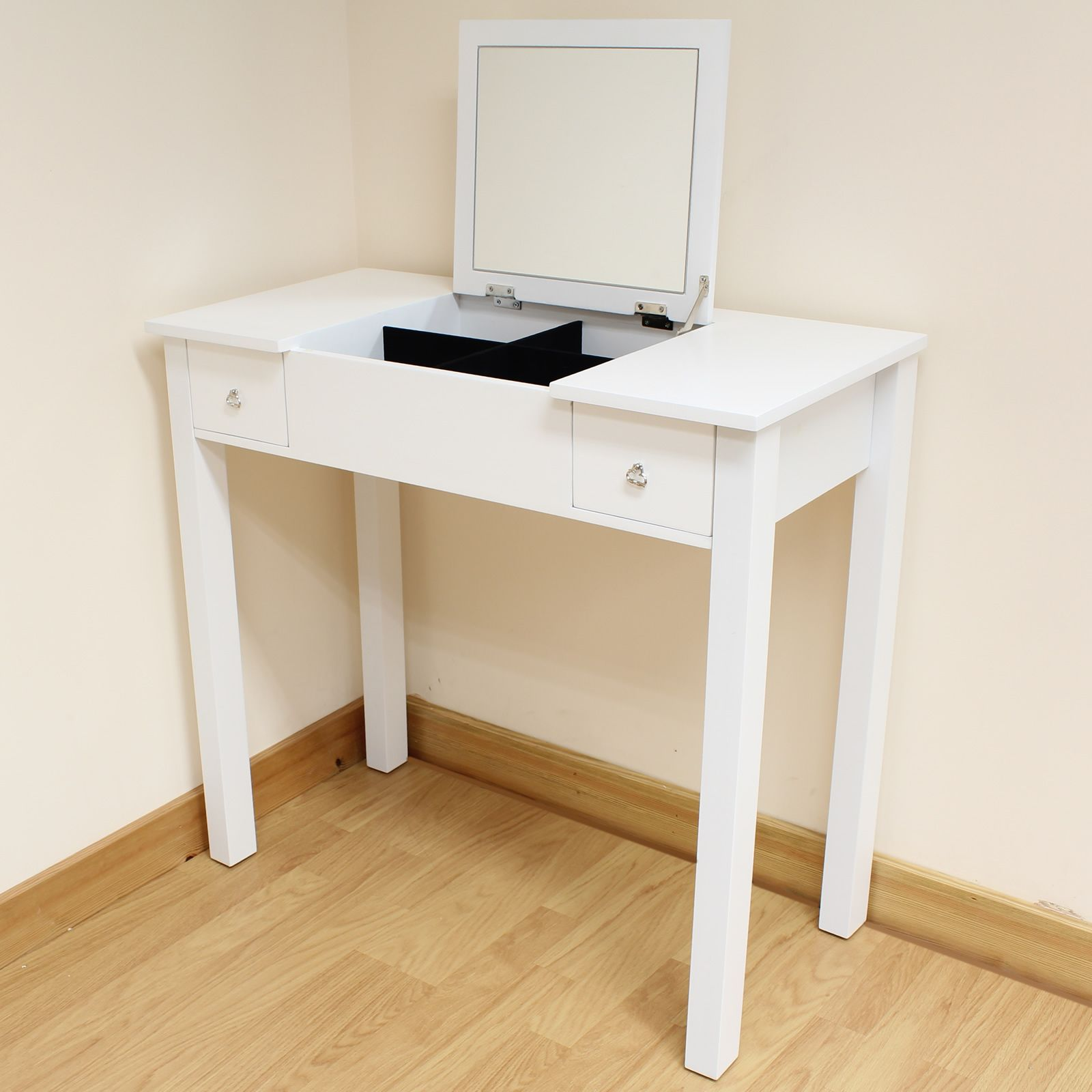 Small Vanity Dressing Table Vanity With A Fold Down Mirror Room Bedroom Vanity