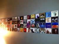CD Wall Art...attach the cases with 3M adhesive strips ...