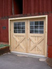 New swinging barn doors on old barn   Garage Ideas ...
