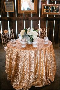 Luxury Pink and Gold Wedding in Florida | Gold tablecloth ...