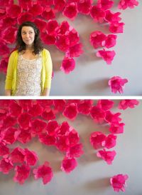 tissue paper wall flower backdrop - Google Search | crafts ...