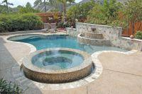 Pool Design, Modern Custom Pool Design With Raised Jacuzzi ...
