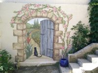 Secret garden mural | Garden mural, Doors and Paintings