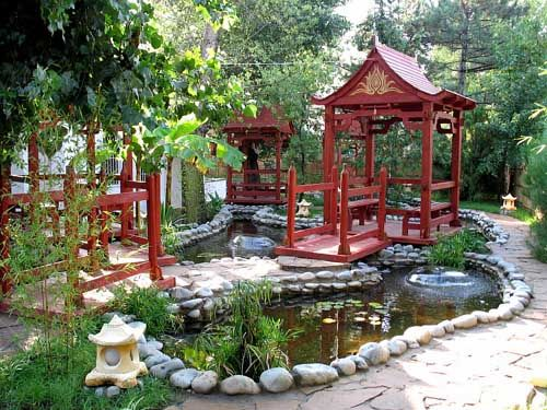 Feng Shui Tips for House Exterior Designs Small ponds, Chinese - chinese garden design