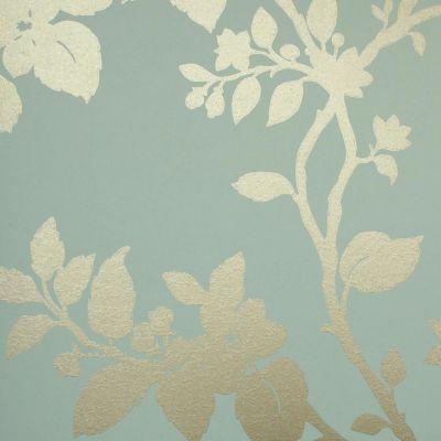 Duck Egg Blue Wallpaper Living Room - Homebase Wallpaper
